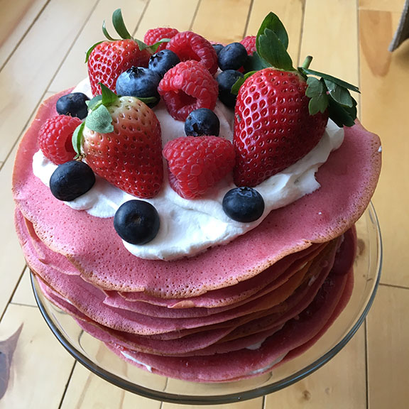 gluten free crepe cake