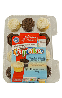 gluten free B&W cupcake